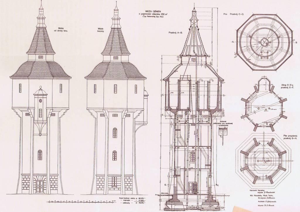 plan wieży
