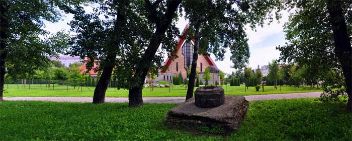 Panorama - stanowisko i kościół