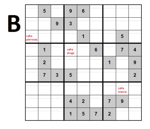 Kod do skrzynki B
