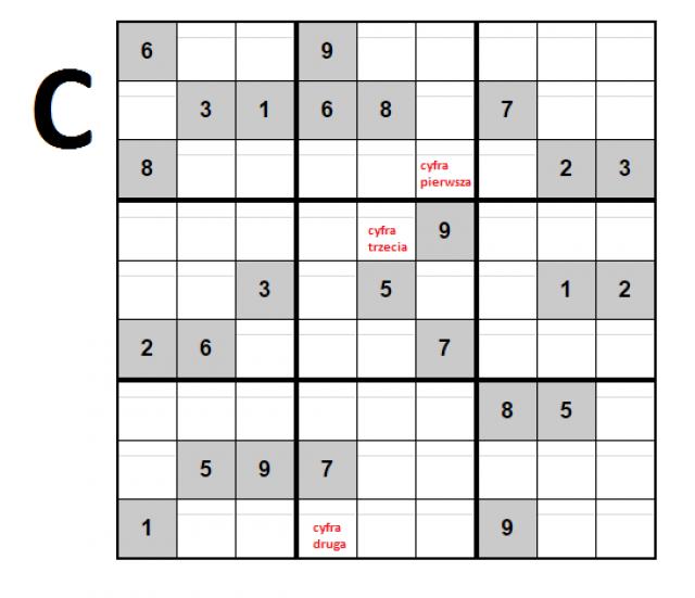 Kod do skrzynki C